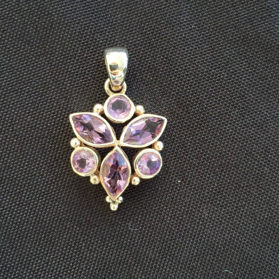 Amethyst & Sterling Silver Necklace - #16 February Birthstone