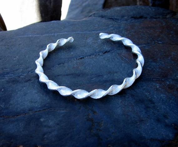 Sterling Silver Twist Cuff Bracelet - #439