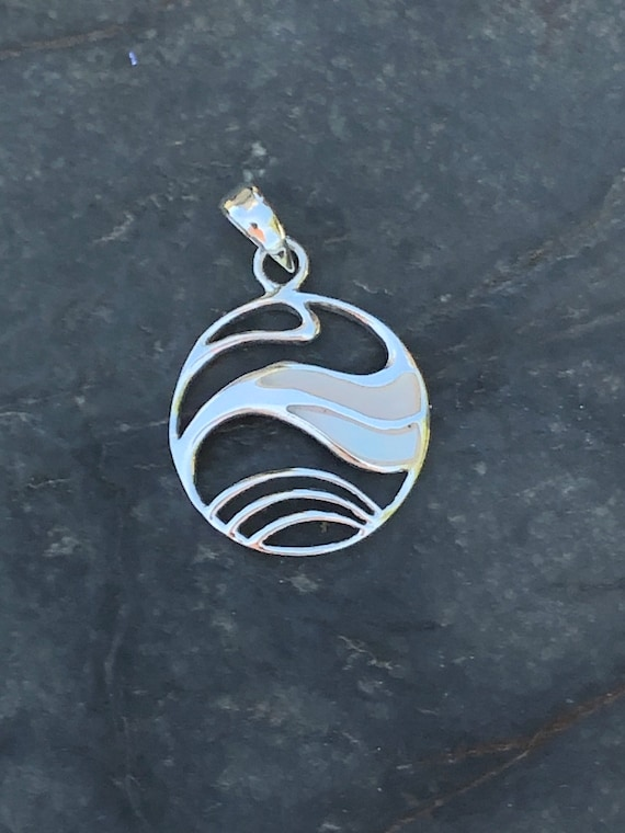 Mother of Pearl and Sterling Silver Pendant
