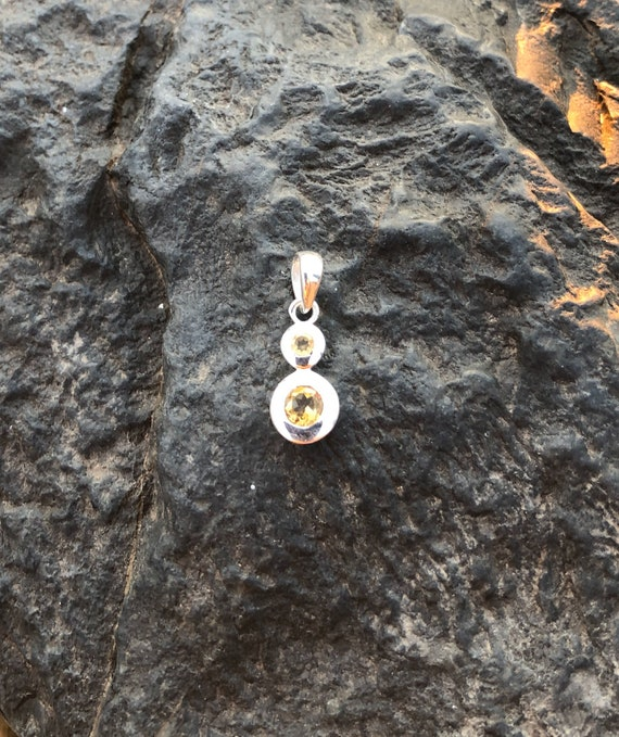 Citrine & Sterling Silver Pendant