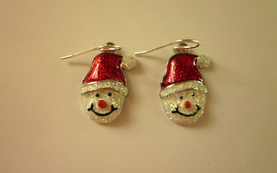 Sparkle Snowman Charm Earrings - #243