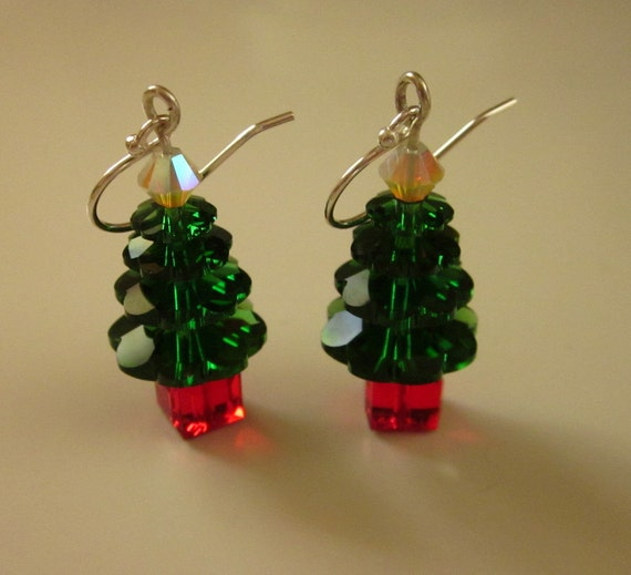 Swarovski Crystal Christmas Tree Earrings - #72
