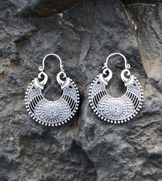 Sterling Silver Bali Style Earrings