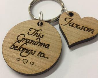 Personalised Key ring, Personalised Grandma Gift, Personalised Key chain, Personalised Granny Gift, Personalised Nanny Gift, Mothers Day
