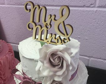 Mr & Mrs Wedding Cake topper, Wooden cake topper, Mrs and Mrs, Mr and Mr