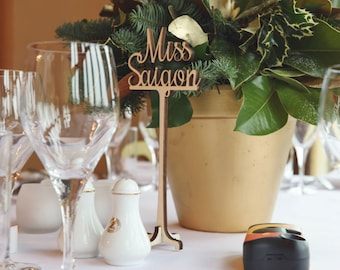 Wedding table names, Wooden Table Names, Personalised Table Names