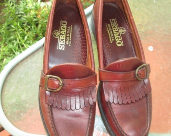 c17d263482d Vintage Sebago never worn cut leather front loafer style shoes. Classic  brown Sebago vtg loafer style low heel shoes. Made in USA 9 1 2 S