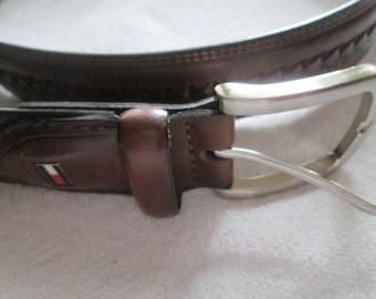 Réversible Ceinture à boucle Gunmetal Gris 1-3//8 pouces Homme sangles en cuir Twist Clamp