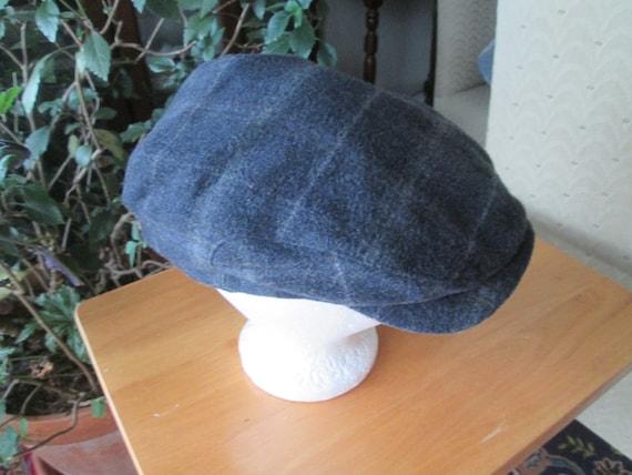 Vintage Wigens of Sweden bluish gray wool newsboy cap with up  c0d88507f62