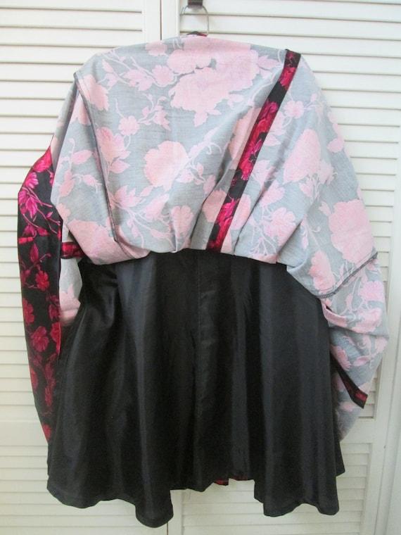 Vintage 70 cotton 30 silk silky full pleated skir… - image 2