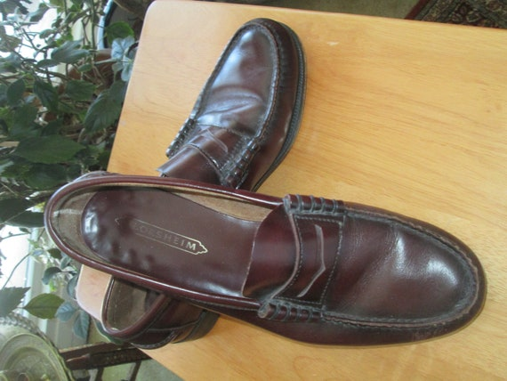 6aaf1a766ad Vintage Florsheim cordovan penny loafers. Size 11 C men s