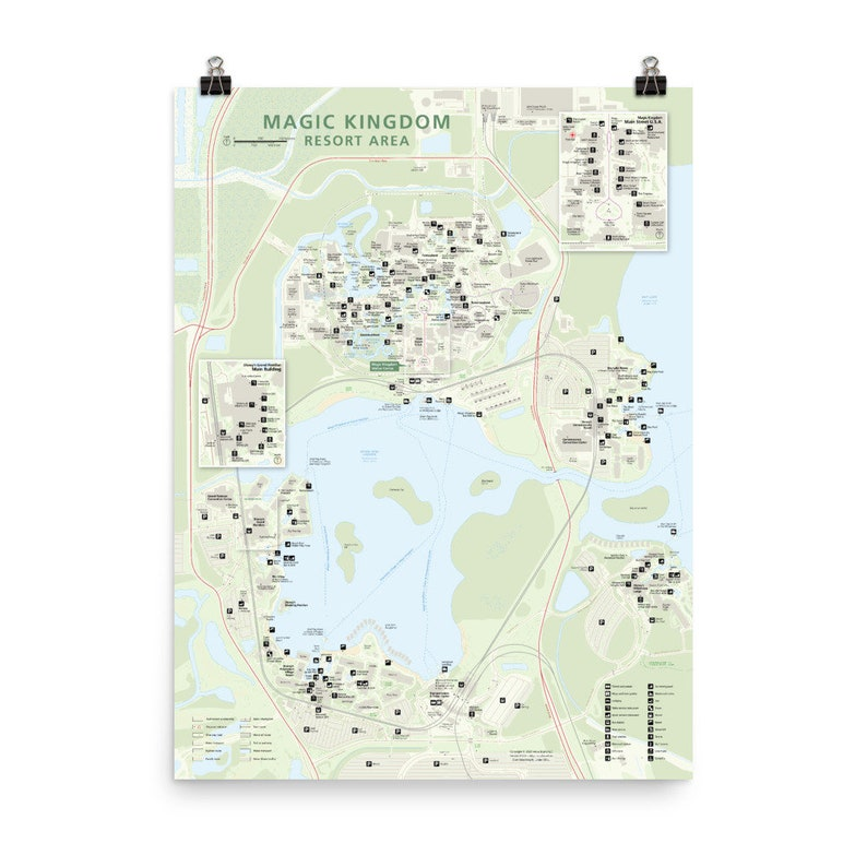 Magic Kingdom Resort National Park-style Map with image 0