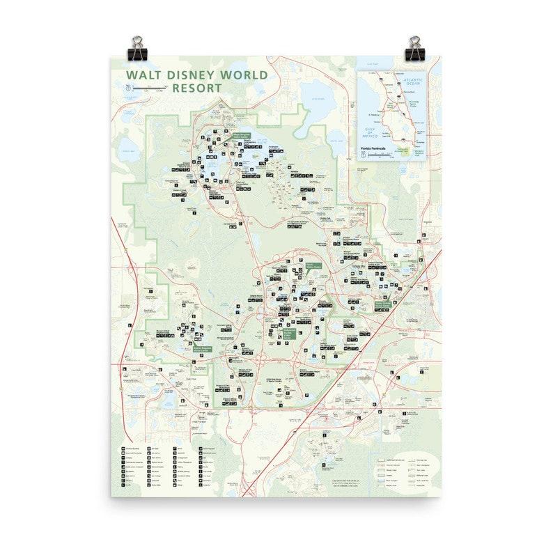 Walt Disney World Resort National Park-style Map with image 0
