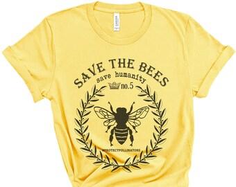 4749c542a1476a SAVE THE BEES Shirt | Save the Bees, Bees Shirt, Bee Lover Shirt, Nature  Lover, Honey Bee Shirt, Bees, Vegan Shirt, Beekeeper Shirt