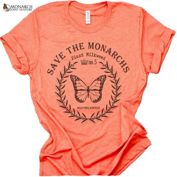 SAVE THE MONARCHS Tee | Save the Monarchs | Monarch Butterfly Shirt | Save the Butterflies | Monarch Butterfly | Milkweed | Milkweed Plant