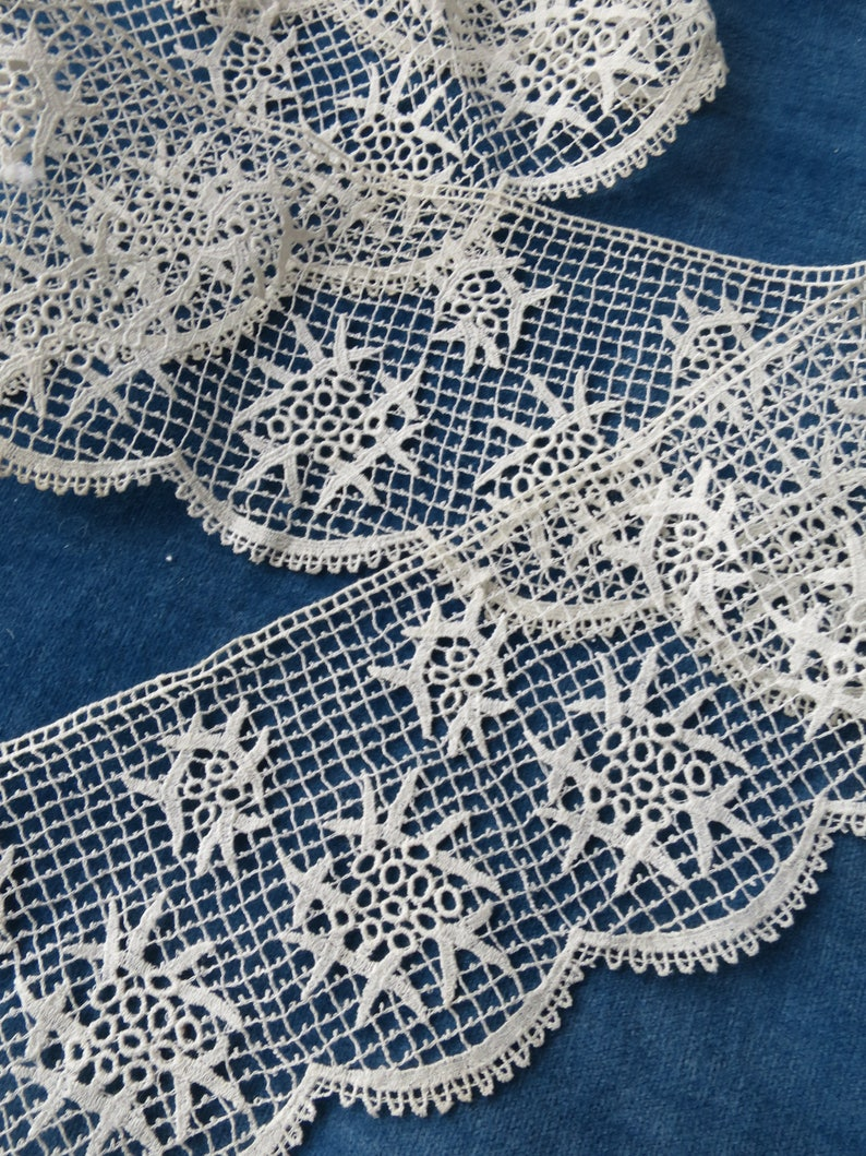 Antique Chemical Lace Crochet Hand Painted Applique Cute Bag 4 Needlework As Is Antiques