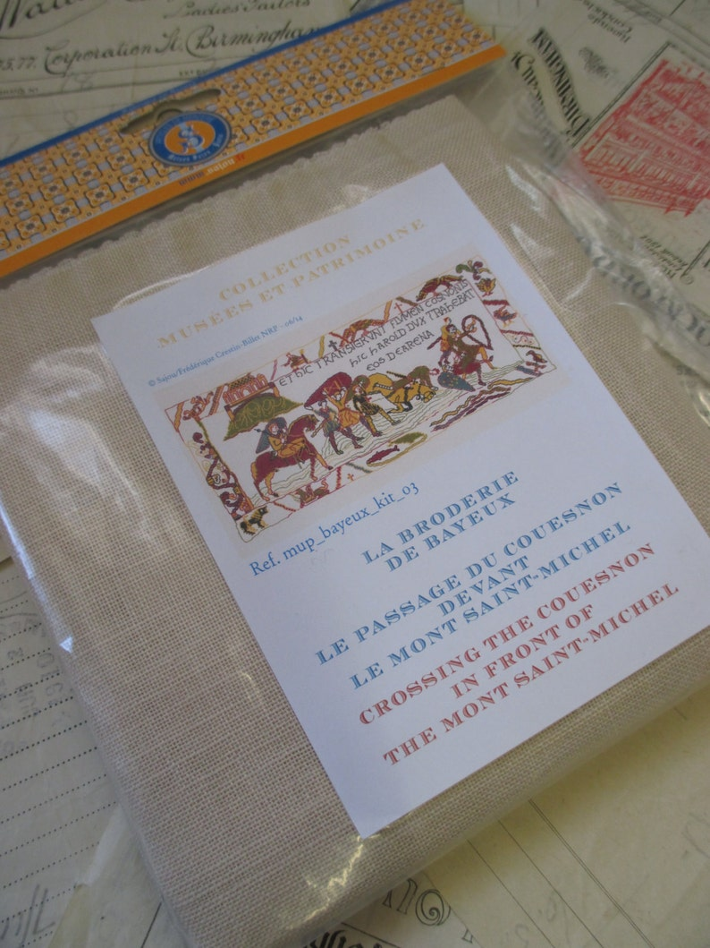 Sajou Museum /& Heritage Bayeux Tapestry Embroidery Kit Crossing the Couesnon