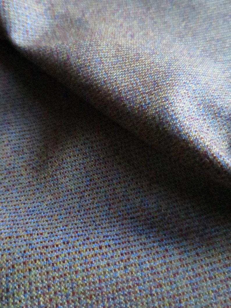 By the Meter Bright Burgundy Mustard /& Blue Tweed Scottish Tweed Wool Fabric