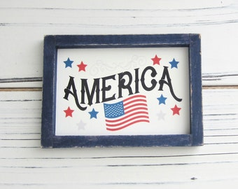 Patriotic Home Displays American Flag Small Town USA Vintage Snapshot US Flag Fourth Of July Black /& White Photo