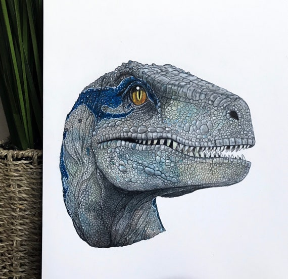 Blue Portrait Jurassic World Fallen