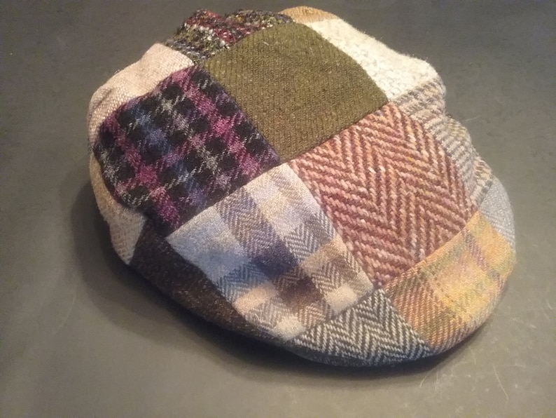 ee21b465ab4cb Donegal Tweed Patchwork Cap by Hanna Hats   Etsy