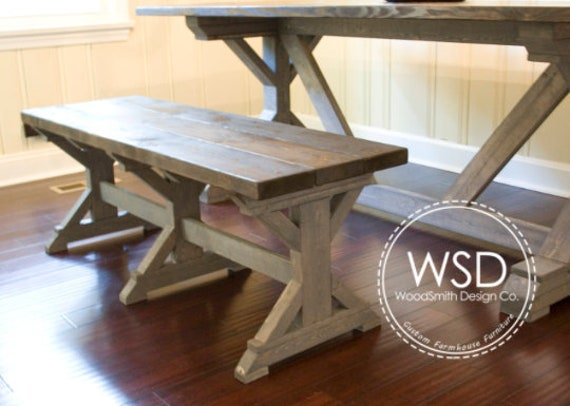 Enjoyable Farmhouse Truss Bench Dining Table Bench Seating Ncnpc Chair Design For Home Ncnpcorg