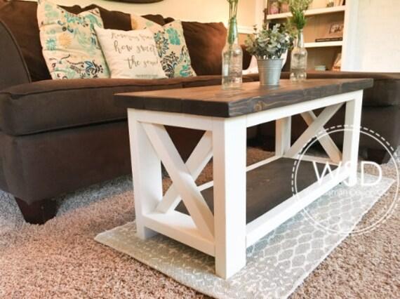 Custom Farmhouse Coffee Table - Rustic Coffee Table - Farmhouse Style  Furniture - Living Room Table - Under 300