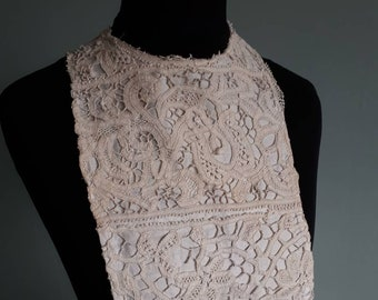 Reasonable Old Vintage Yoke Crochet Bodice Excellent Quality Collars & Cuffs Lace, Crochet & Doilies