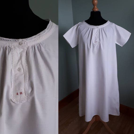 e5930d4182 Victorian chemise cotton nightgown vintage nightdress antique