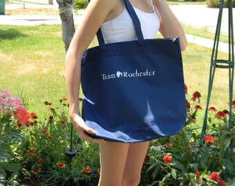 Team Rochester zippered tote bag