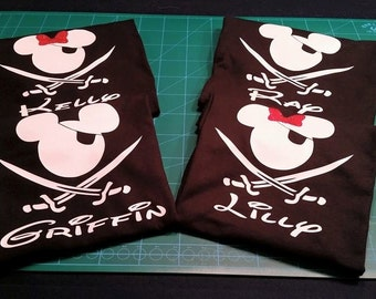 Personalized Pirate Mickey Tee