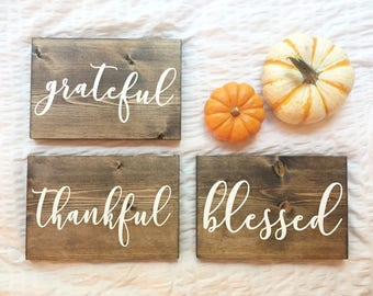 Fall Signs { 3 Wooden Signs }