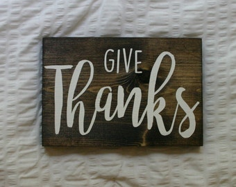 Give Thanks {Fall Decor Wooden Sign}