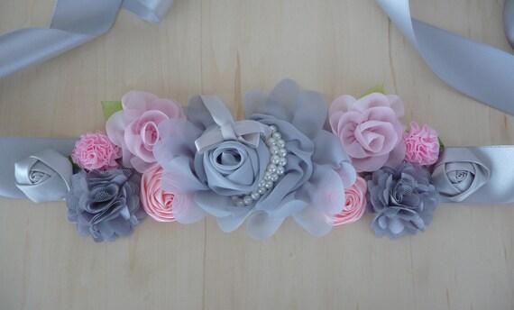 edaf0a68d4a ceinture de grossesse rose et gris ceinture de maternité