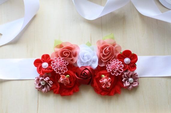 c26e9a18fd2 ceinture fleur rouge