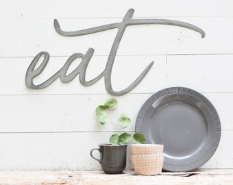 eat Metal Sign - Metal Wall Art - eat Sign - Metal Words - Farmhouse Kitchen - Metal Signs - Dining Room -Simply Inspired-Inspiration  sc 1 st  Etsy & Coffee Metal Sign Metal Wall Art Coffee Sign Metal Words | Etsy