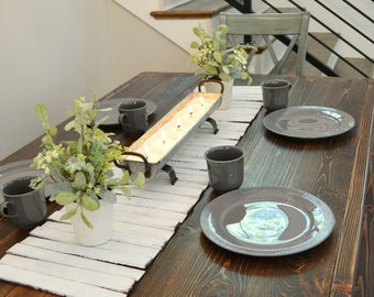 Gentil More Colors. Wooden Table Runner   Rustic Home Decor   Tabletop ...