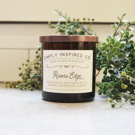 Rivers Edge 11 Oz Soy Wax Candle Cotton Wick Simply Etsy