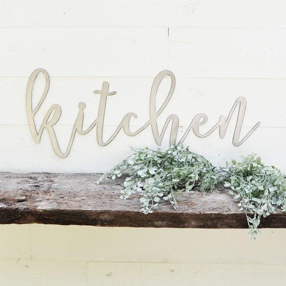 image 0 & Kitchen Metal Sign Metal Wall Art Kitchen Sign Metal | Etsy