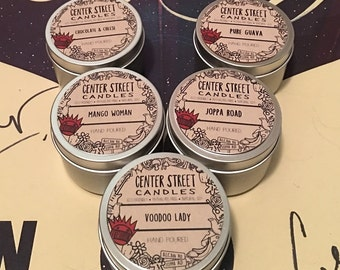 Boognish Burning: set of 5 Ween themed soy candles