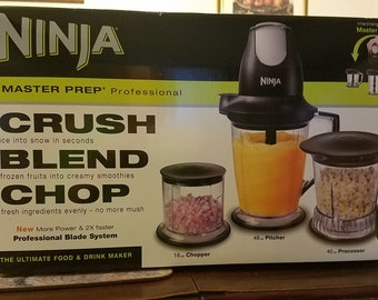 Ninja Master Prep Pro 48-oz Black 1-Speed 450-Watt Pulse Control Blender
