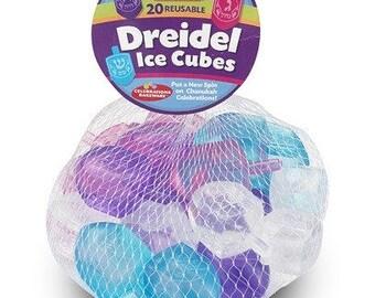 Hanukkah Dreidel Reusable Ice Cubes, Chanukah Decorations