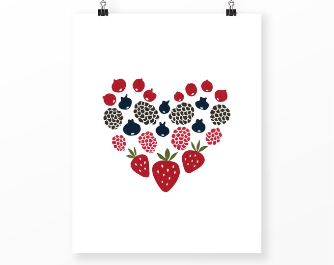 "Berry Love Print | 11"" x 14"" 