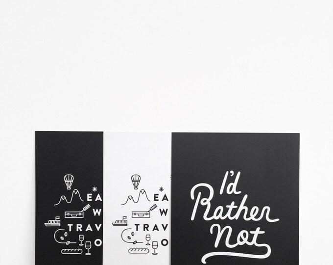 "3 Print Set   6"" x 8""   Eat Well Travel Often, Pretty Please, I'd Rather Not   Typography, Art Print, Digital Print"
