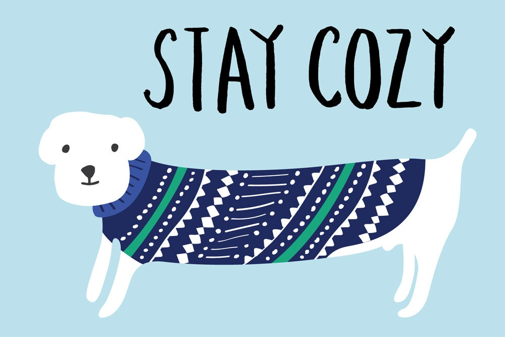 Stay Cozy Dog Holiday Greeting Card