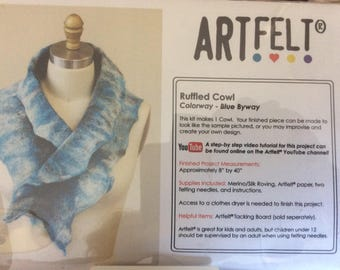 Artfelt Ruffled Cowl Kit - Blue Byway