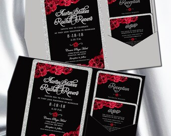 black invitation etsy