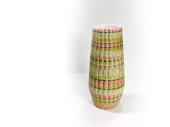 Vintage Mid Century Modern Vase Ceramic Pottery Vessel Vase Etsy
