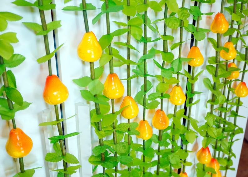 Fruit Curtain Yellow Pear Plastic Door Handmade Retro Kitchen Living Room Home Living Doorway Hanging Wall Decor Decoration Outdoor Indoor