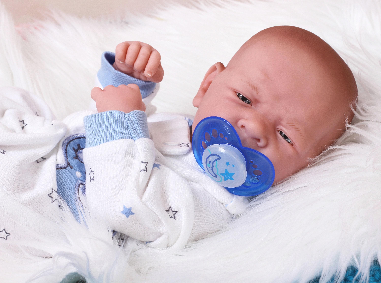 "Baby Real Boy Reborn Doll Preemie Berenguer 15/"" Newborn Soft Vinyl Life Like"